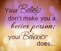 belief and behavior