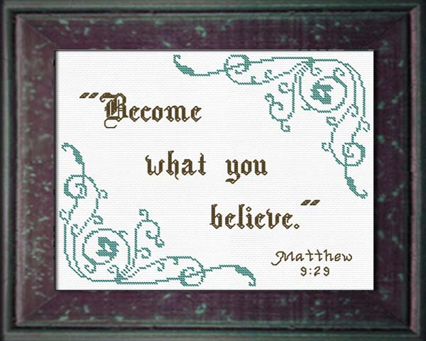 Matthew 9 become what you believe