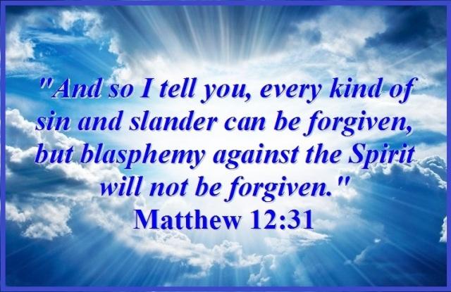 Matthew 12 forgiven