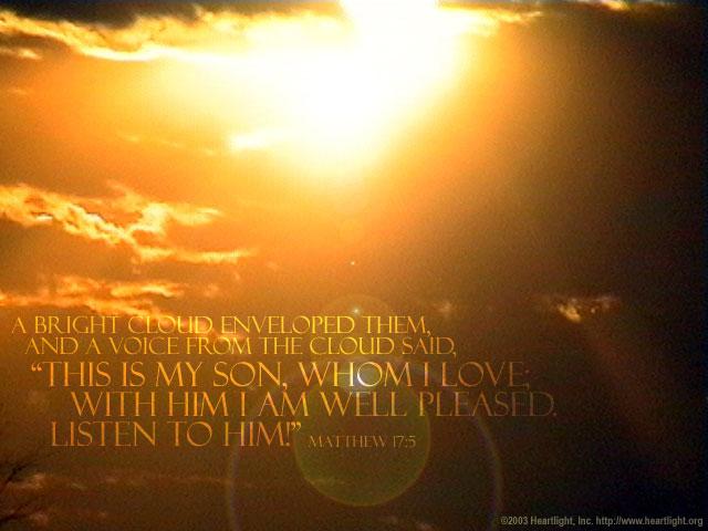 Matthew 17 glory