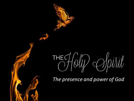 Mark 1 God's Spirit