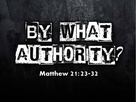 Matthew 21 authority