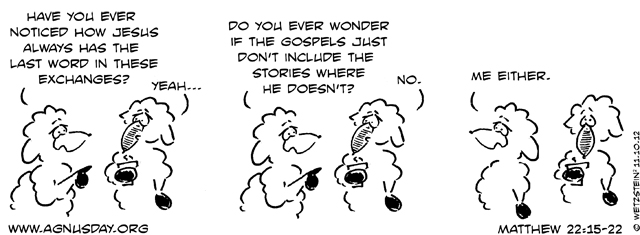 Matthew 22 sheep cartoon