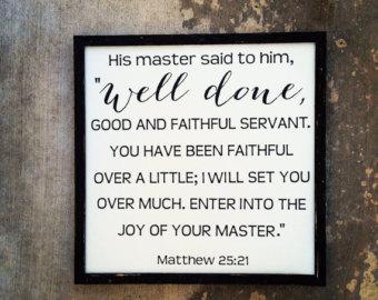 Matthew 25 joy