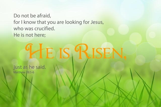 Matthew 28 risen