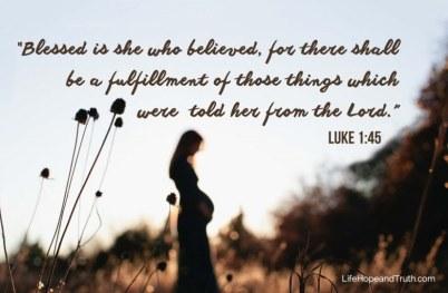 Luke 1 believe