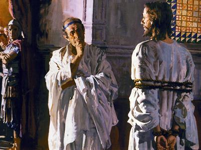 Mark 15 tie Jesus