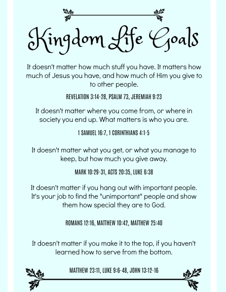 Luke 13 Kingdom goals