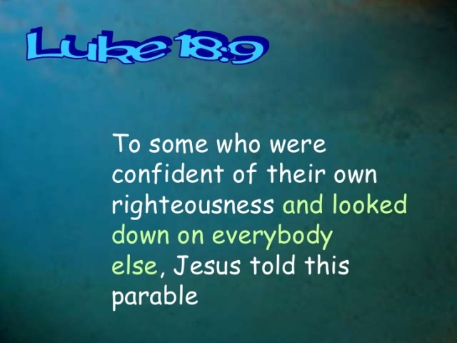 Luke 18 comparing parable