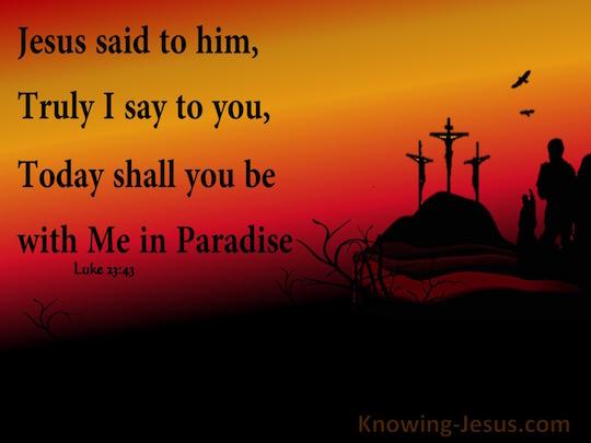 Luke 23 Jesus on the cross