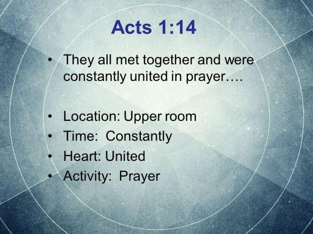 Acts 1 prayer as Jesus taught them