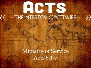 Acts 6 serve