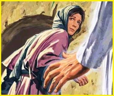 John 20, Mary sees Jesus
