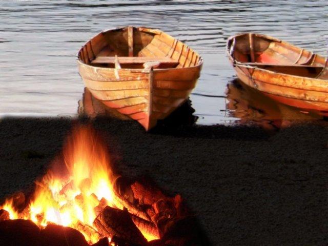 John 21 shore boats fire