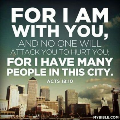 Acts 18 with you