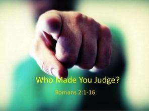 Romans 2 judge