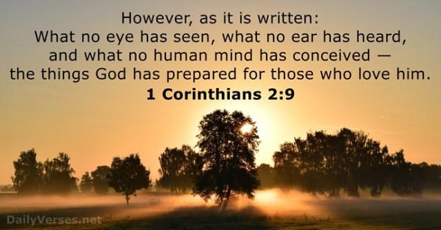 1 Corinthians 2 God has