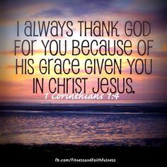 I Corinthians thank God for you