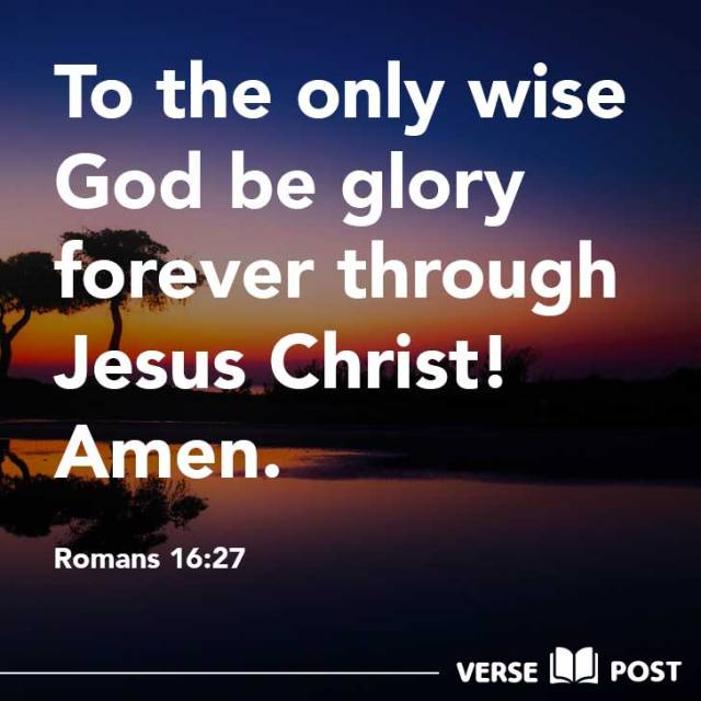 Romans 16 glory to God