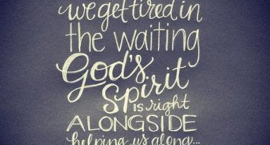 Romans 8 wait with help