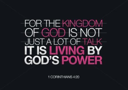 1 Corinthians 4 Gods power