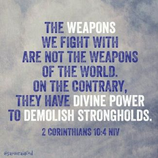 2 Corinthians 10 God weapons
