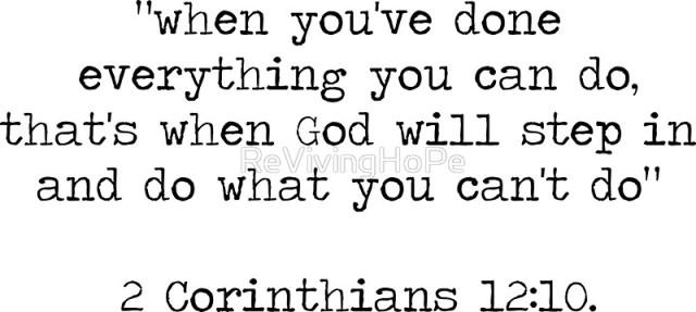 2 Corinthians 12 let God