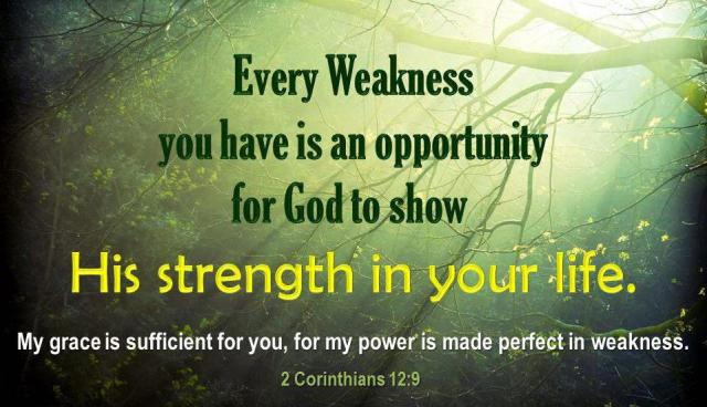 2 Corinthians 12 weak to strong