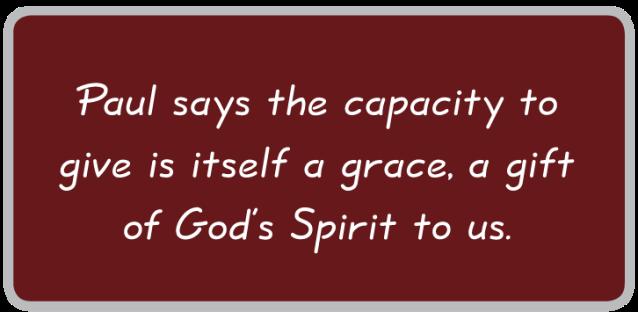 2 Corinthians 8 gift of giving