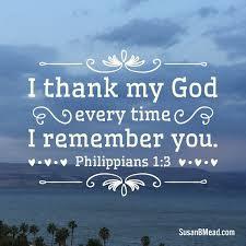 Philippians 1 thanks