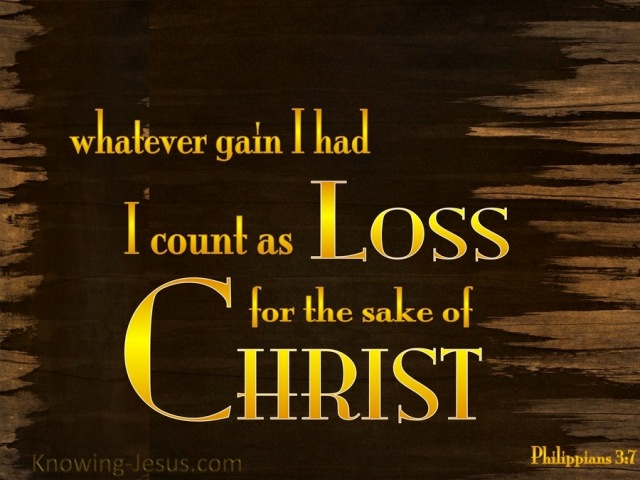 Philippians 3-7 My Gain I Count as Loss-yellow