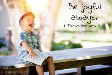 1 Thessalonians 5 joy