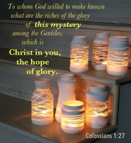 Colossians 1 Christ in us is hope