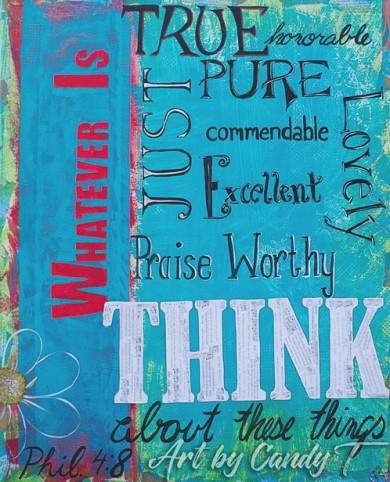 Philippians 4 think on whatevers