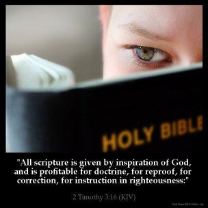 2 Timothy 3 God breathed