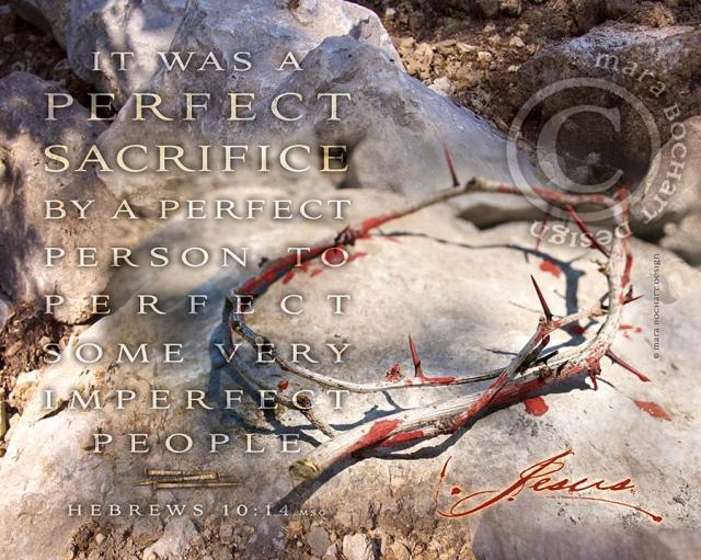 Hebrews 10 perfect Jesus