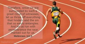 Hebrews 12 get off the start