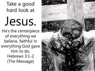 Hebrews 3 centerpiece