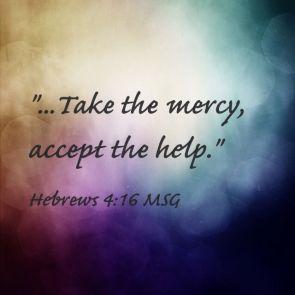 Hebrews 5 take the mercy