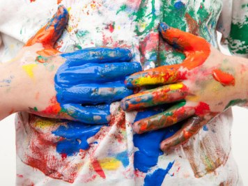 Hebrews 6 finger painting