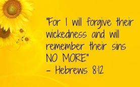 Hebrews 8 sins gone forever