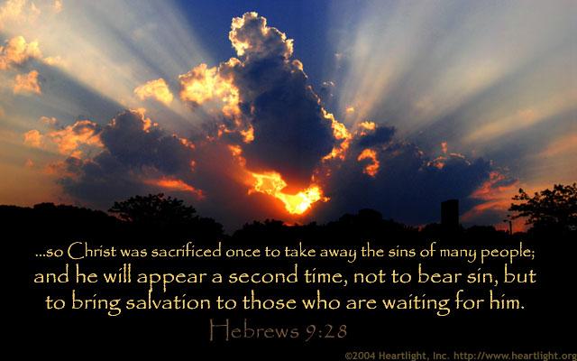 Hebrews 9 sacrifice
