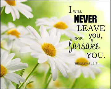 Hebrews 13 never