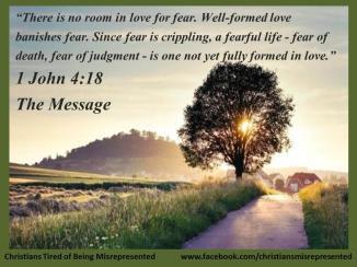 1 John 4 love drive out fear