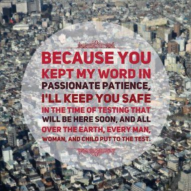 Revelation 3 kept my Word