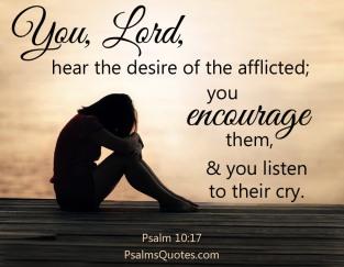 Psalm 10 God hears