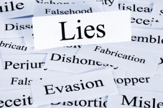 Lies Concept