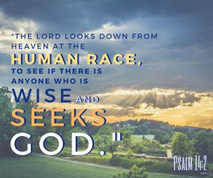 Psalm 14 God is looking