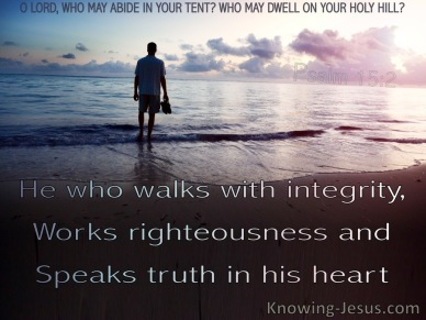 Psalm 15 truth