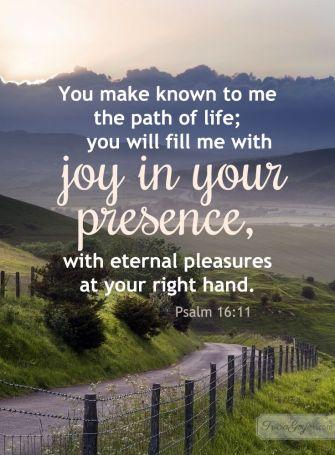 Psalm 16 joy in your presence